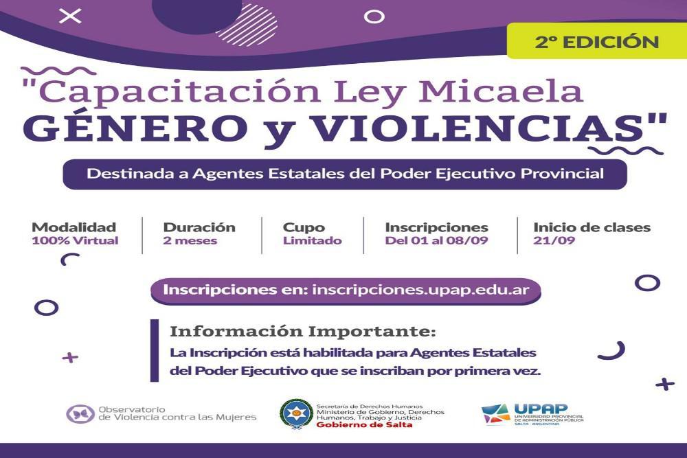 Ley Micaela_ Mil agentes de la Administración Publica podrán capacitarse en perspectiva de género